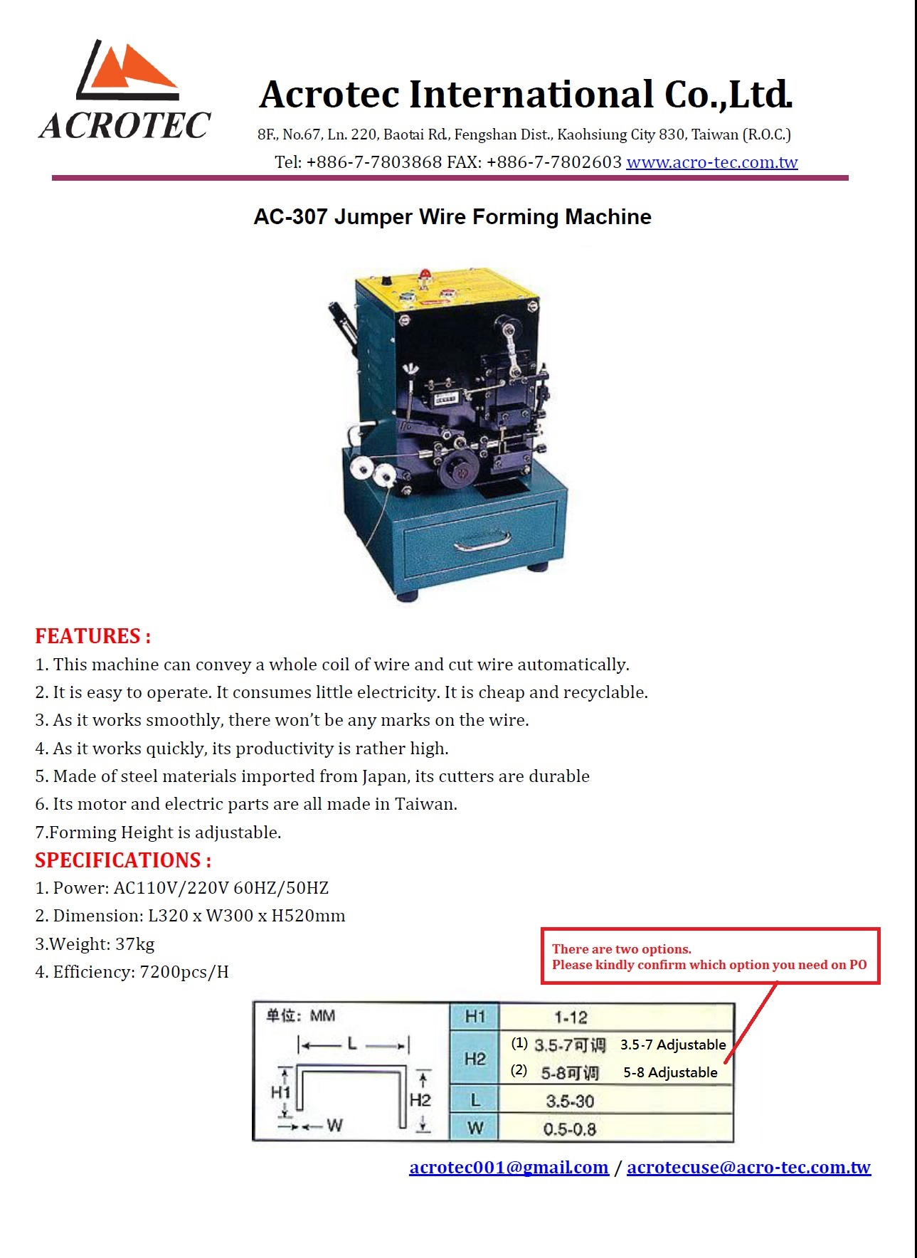 Acrotec International Co Ltd 3 Prong 220v Wiring Diagram What Is X Ac 307 Jumper Wire Forming Machine Demo Video